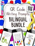 All Year Long BILINGUAL QR Code Writing Prompts Bundle