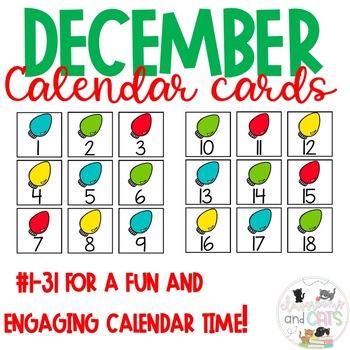 All Year Long Calendar Cards December