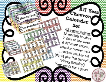 All Year Long Chevron Calendar Set