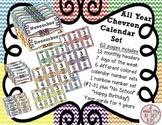All Year Long Chevron Calendar Set