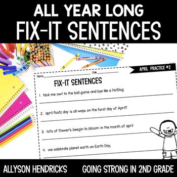 All Year Long Fix-It Sentences