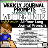All-Year Long Frog Street Journal Writing Prompts {English}