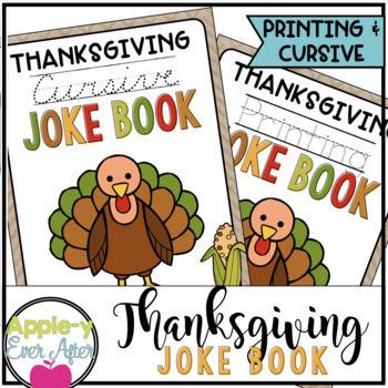 All Year Long PRINTING and CURSIVE Joke Book Bundle