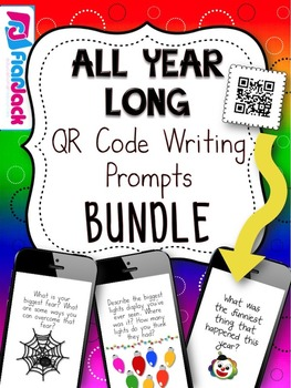 All Year Long QR Code Writing Prompts Bundle