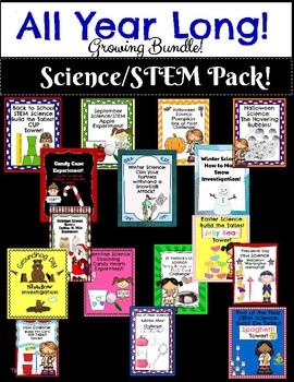 All Year Long Science STEM Pack! Growing Bundle