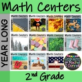 Year Long Math Centers Second Grade Bundle