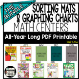 All Year Long Sorting Mats and Graphing MATH CENTERS-Fine Motor Development