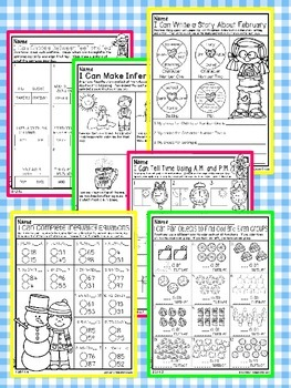 All Year Math and Literacy Printable NO PREP Preview FREEBIE Second Grade