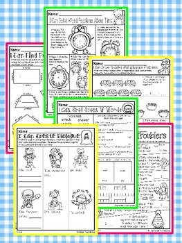 All Year Math and Literacy Printable NO PREP Preview FREEBIE Third  Grade