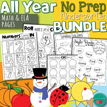 All Year No Prep BUNDLE Kindergarten