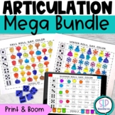 All Year Round NO PREP Articulation Roll Say Color Sound Practice Speech Therapy