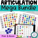 Articulation Worksheets All Year Bundle Print Digital Boom