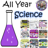 All Year Science Bundle (PowerPoints, Worksheets, Review, Games +More!)
