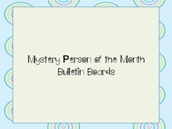All Year Social Studies Mystery Person Bulletin Board