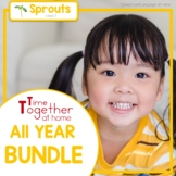 All Year Speech and Language Therapy Activities for Preschool Growing Bundle