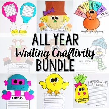 All Year Writing Crafts Bundle