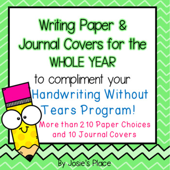 Writing Paper and Journal Covers for Handwriting Without Tears  (HWT)