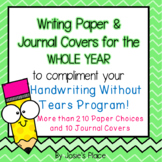 Writing Paper and Journal Covers to Compliment Handwriting
