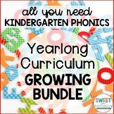 Kindergarten Phonics Curriculum Growing Bundle PREVIEW