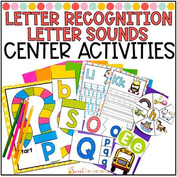 Phonics Unit 1: Letter Recognition and Sounds Center Activities ONLY