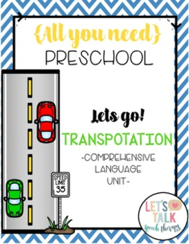 All You Need Preschool Unit for Speech Therapy-Bundle 1