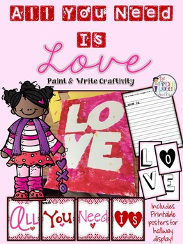 All You Need is Love: A Valentine's Day Paint and Write Craft Activity