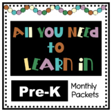 All You Need to Learn in Pre-K Bundle