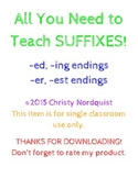 All You Need to Teach Suffixes - ed, ing, er, est - 2.RF.3