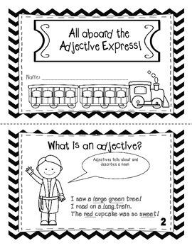 All aboard the Adjective Express Mini- Book  ( Polar Expre