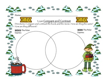 All aboard the train!  Writing activities for The Polar Express