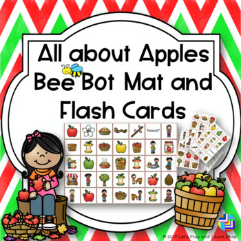 All about Apples Bee Bot Mat and Flash Cards