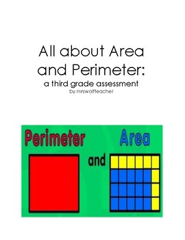 All about Area . . . and Perimeter, of Course: a third grade assessment