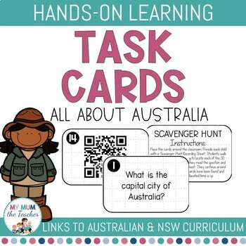 All about Australia Task Cards