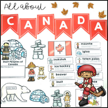 All About Canada Activity Pack maps, spinner, flip book and activities