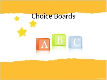 All about Choice Boards
