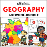 All about Geography Bundle maps and activities on five countries GROWING BUNDLE