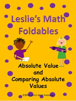 All about Integers and Absolute Value Math Foldable