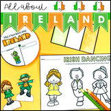 All About Ireland Activity Pack map spinner flip book and activities