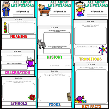 Las Posadas Research Flipbook (All About Las Posadas Facts & Activities)