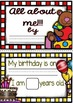 All about Me - English Booklet (Color and B&W Versions)