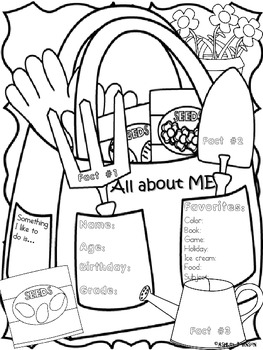 All about Me Garden Theme Back to School