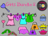 All about Me: Girls Pack 2 {TeacherToTeacher Clipart}