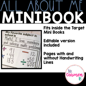 All about Me Minibook