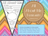 All about Me Pennant Flags for Back to School