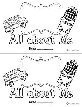 All about Me Printable Mini Books - Back to School