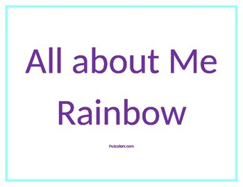 All about Me Rainbow