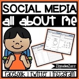 All about Me Social Media Templates for Beginning of the Year