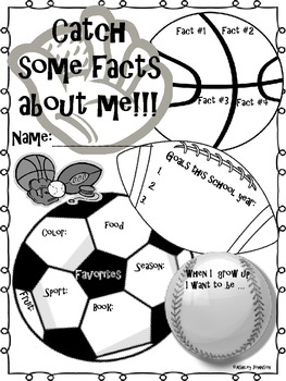 All about Me Sports Theme Back to School