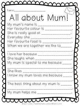 All about Mum / Mom (Bundle)