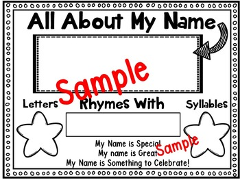 Name Activities for Back to School